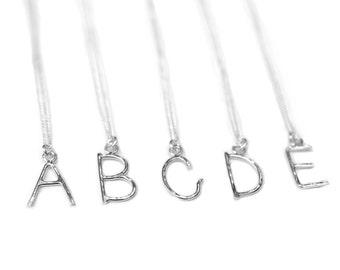 Letter Pendant Necklace, Alpahbet Necklace, Custom Personalized Charm Necklace