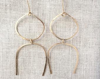 bohemian earrings, gold statement earrings, statement earrings, modern earrings, geometric earrings, modern earrings, dangle earrings