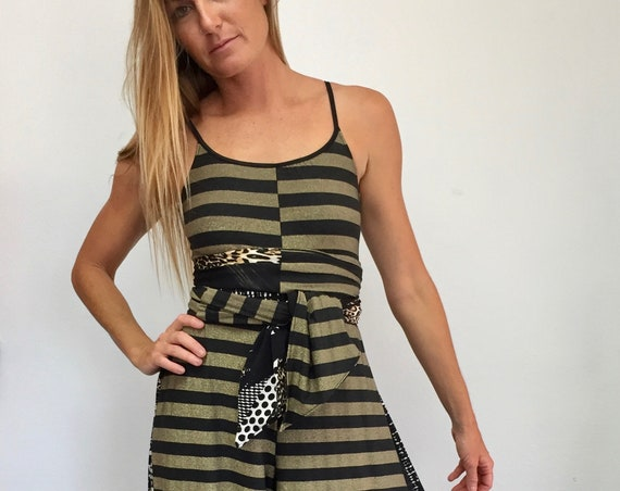 Palazzo Jumpsuit - Black and Gold