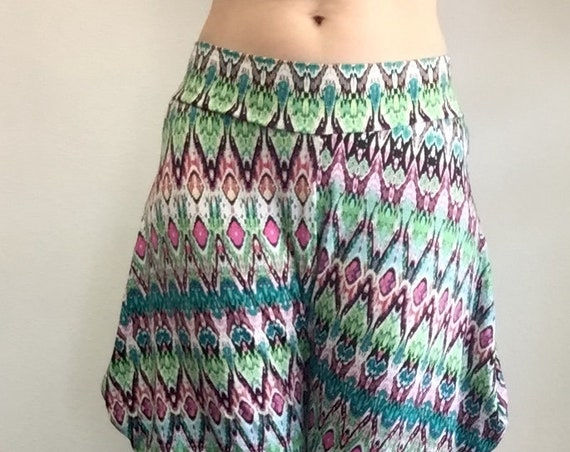 Jodphur Pant - Green and Pink Tribal