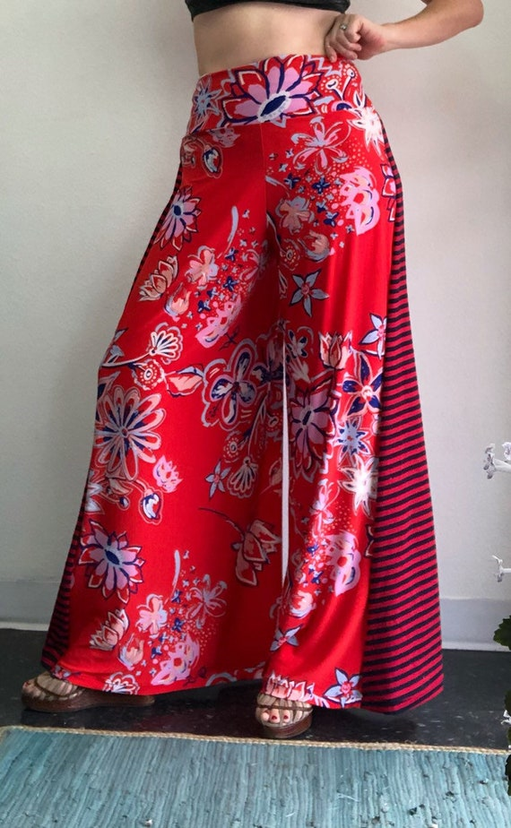 Red Floral Punch Palazzo Pant