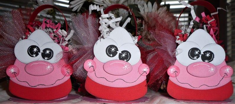 Valentine/'s Day Gift Box Handmade Premade Scrapbooking Paper Piecing 3 Piece Set