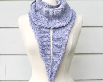 knit pattern, knit scarf pattern, cable scarf pattern, knit shawl pattern, cable shawl pattern, easy cable scarf, instant download pdf