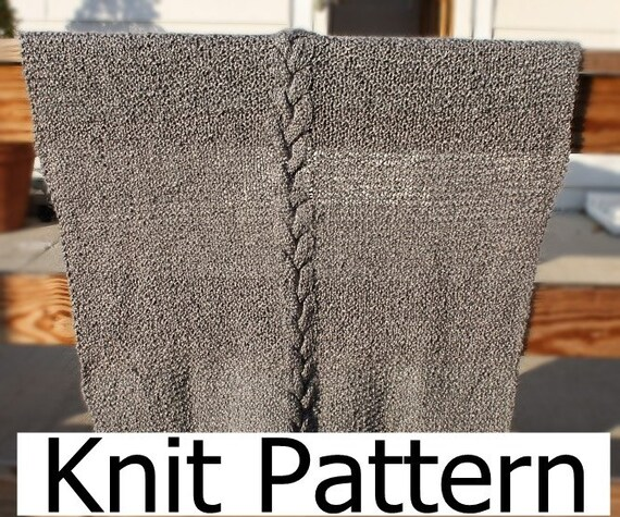 Cable Knit Blanket Pattern Easy Knit Blanket Pattern Easy Etsy