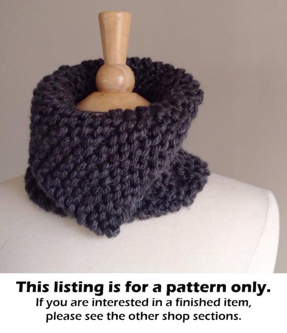 Chunky Knit Scarf Pattern Knit Neckwarmer Pattern Chunky Etsy