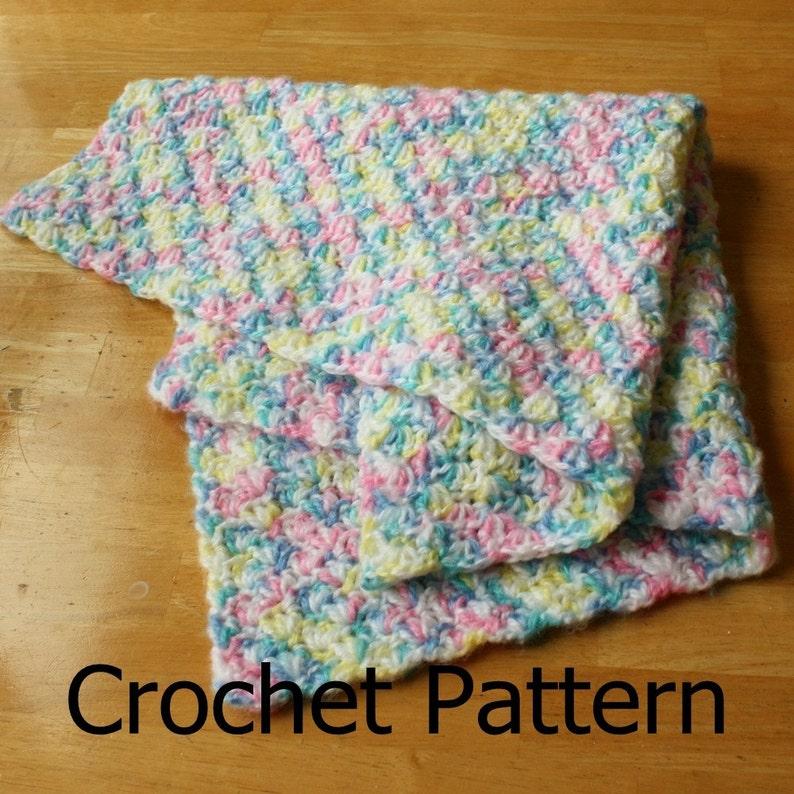 Easy Crochet Baby Blanket Easy Crochet Pattern Crochet Baby Etsy