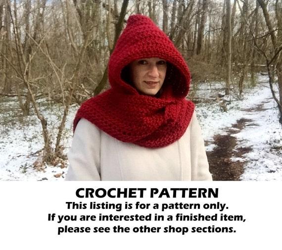 Crochet Hooded Scarf Pattern Crochet Scoodie Pattern Crochet Etsy Unique Crochet Hooded Scarf Pattern