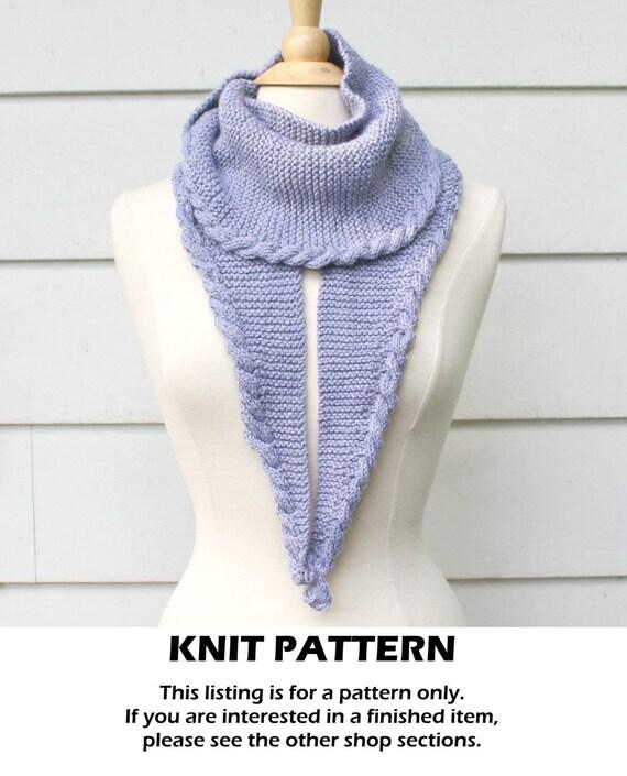 Knit Pattern Knit Scarf Pattern Cable Scarf Pattern Knit Etsy