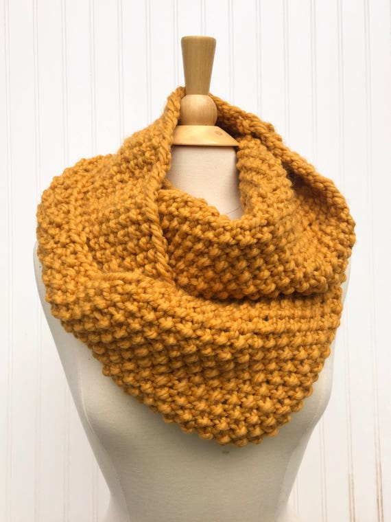 Senf gelb Oversized Schal dicker Schal klobige Winter Kutte | Etsy