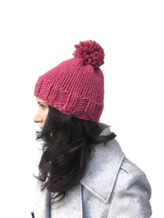 Chunky knit hat pattern knitting pattern womens hat pattern  2b94e78bf70
