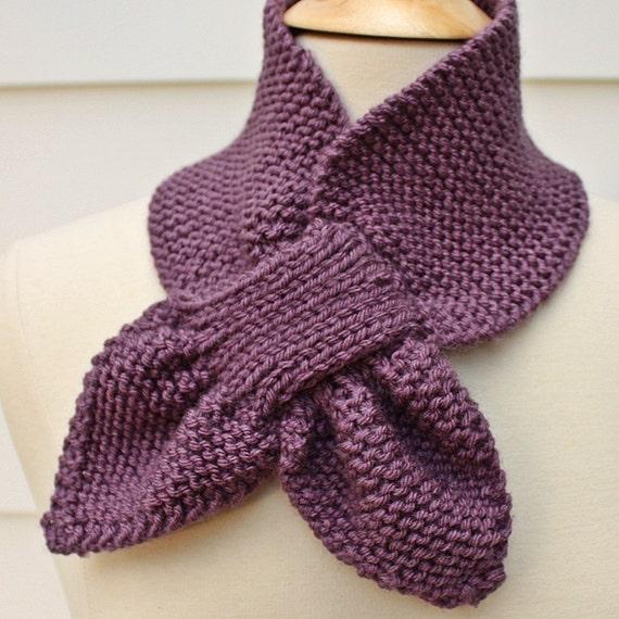 Schlüsselloch Strickschal stricken warme Schal ultra Violet | Etsy