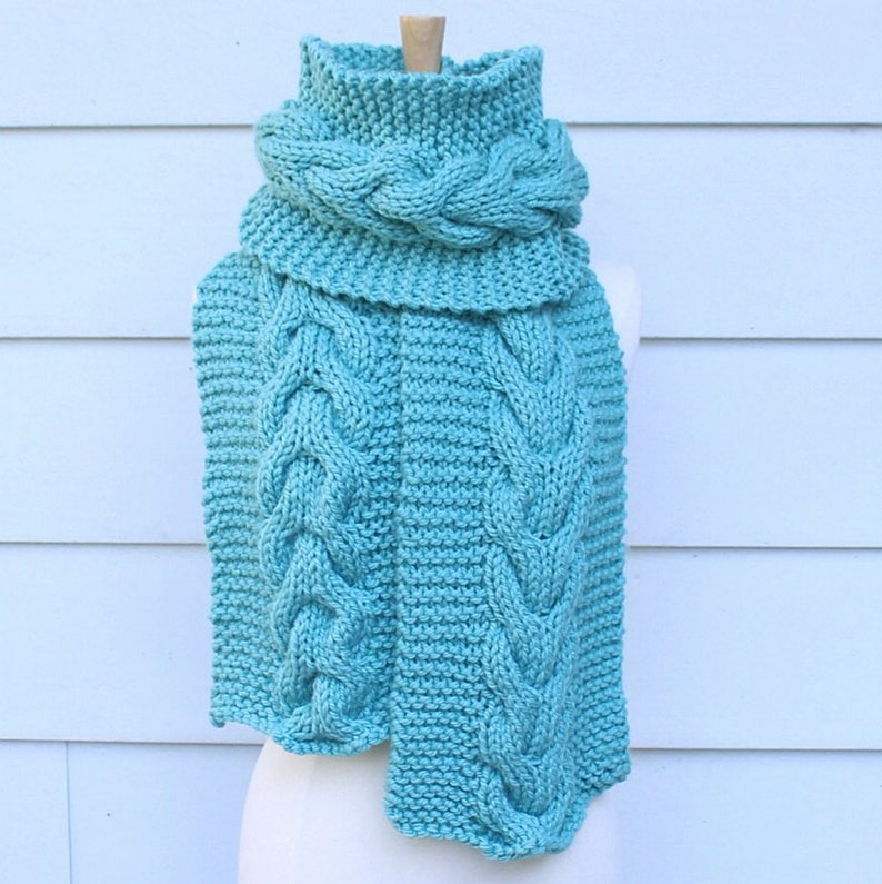 Cable Knit Scarf Pattern Cable Scarf Pattern Chunky Knit Etsy