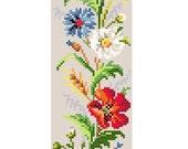 Les fleurs des champs. Cross stitch pattern. Instant download PDF.