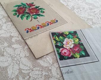 Pretty rose pattern.  Cross stitch pattern. Instant download PDF.
