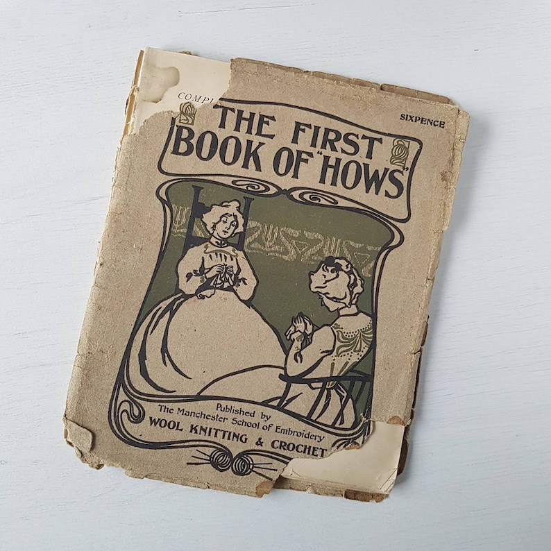 The first book of hows  1893. Antique book scan instant image 0