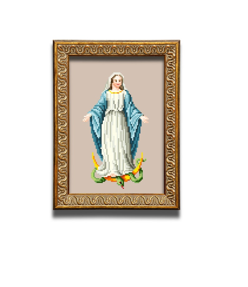 Mary. Cross stitch pattern. Instant download PDF. image 0