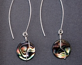 Paua Sterling Silver Wire-wrapped Earrings G362