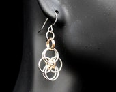Chain Maille Zig-Zag Ring Earrings
