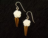 Rose and Gold Earrings