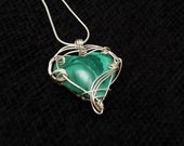 Malachite Heart Pendant