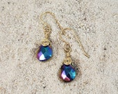 Glass Aurora Borealis Teardrop Earrings