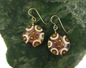 Cloisonne Disc Earrings