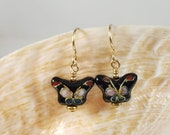 Cloisonne Butterfly Earrings