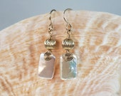 Wire Wrapped Freshwater Pearl and Gold or Silver Earrings