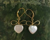 Pearl Hearts & Bows Earrings