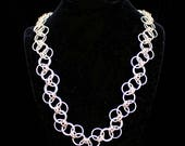 Chain Maille Zig-Zag Rings Necklace