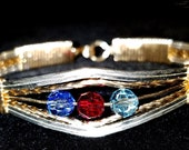 Custom Birthstone Bangle Bracelet