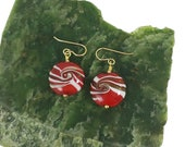 Glass 'Peppermint' Earrings