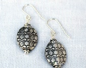 Patterned Sterling Silver Earrings
