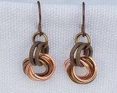 Antiqued Copper and Bronze Earrings