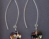 Paua Sterling Silver Wire-wrapped Earrings G362