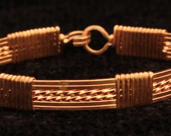 Wire Wrapped Copper Bangle