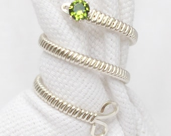 The Birthstone Wire Wrapped Ring