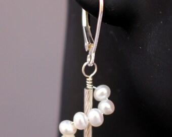 Freshwater Pearl Swirl Earrings
