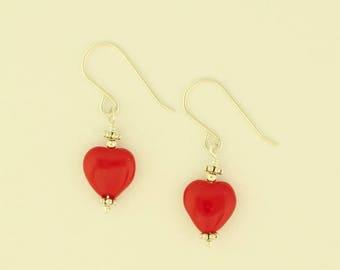 Glass Heart Earrings