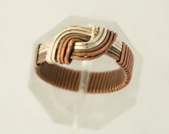 Copper and Silver Hug Ring