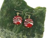 Glass 'Peppermint' Earrings