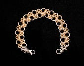 Japanese X's and O's Chain Maille Bracelet