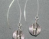 Pewter V-Wire Earrings