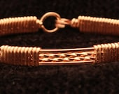 Wire Wrapped Thin Copper Bangle
