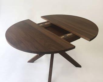 contemporary modern round dining table solid walnut with bird etsy rh etsy com