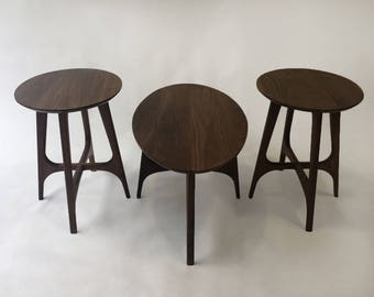 8cf988902600f Mid Century Modern Furniture Side Table - Set of Coffee Cocktail Table and  Two Side Tables - Atomic Design