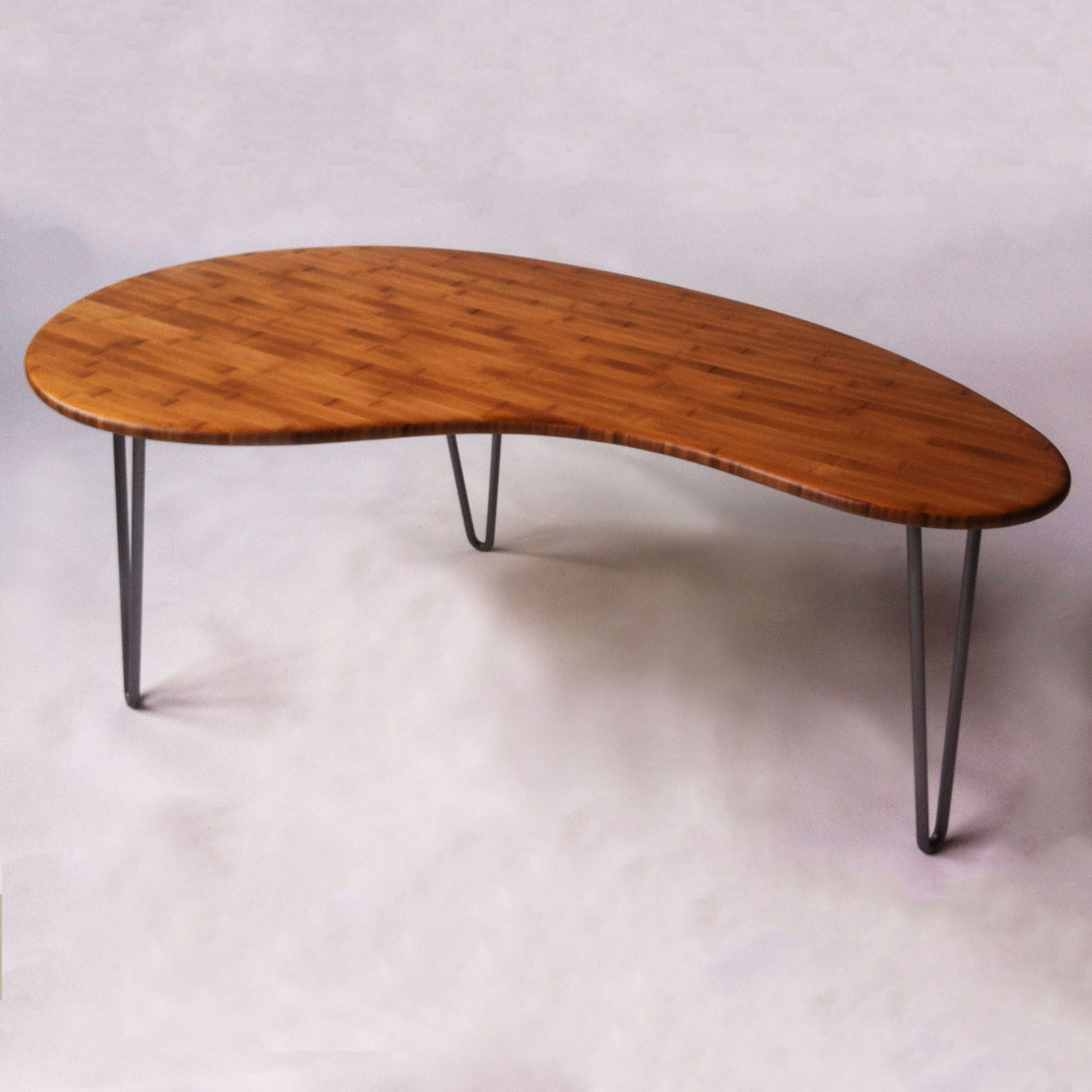 Mid Century Modern Coffee Table Kidney Bean Shaped Atomic