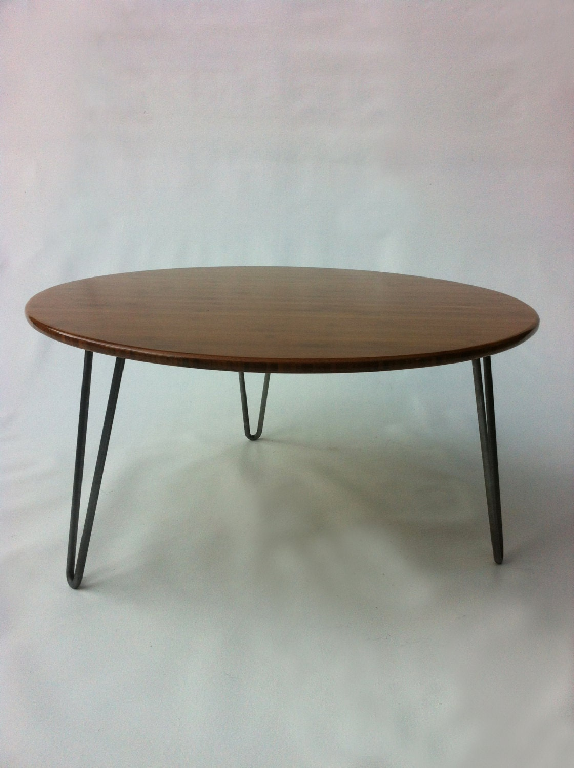 34 Round Mid Century Modern Coffee Table Atomic Eames Etsy