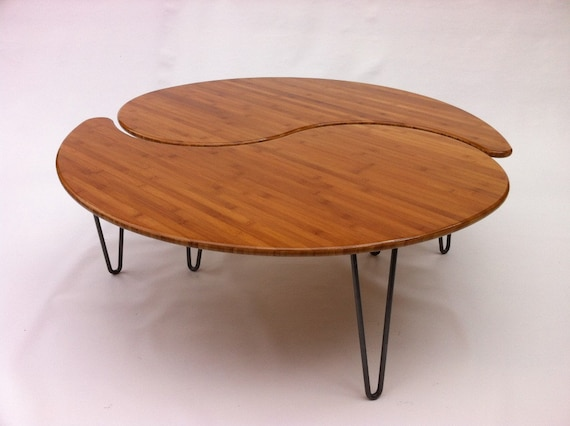 Prime Yin Yang Nesting Large Round Coffee Table Mid Century Modern In Your Choice Of Caramelized Or Natural Bamboo Comes As A Pair Of Two Lamtechconsult Wood Chair Design Ideas Lamtechconsultcom