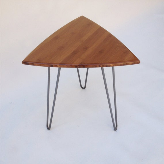 ce40c6163d46 Guitar Pick Side Table Mid Century Modern Triangle Shaped End